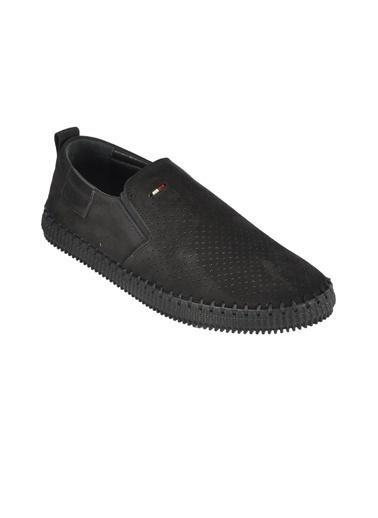 Walkway 149-9 Siyah Erkek Hakiki Deri Günlük Ayakkabı Siyah